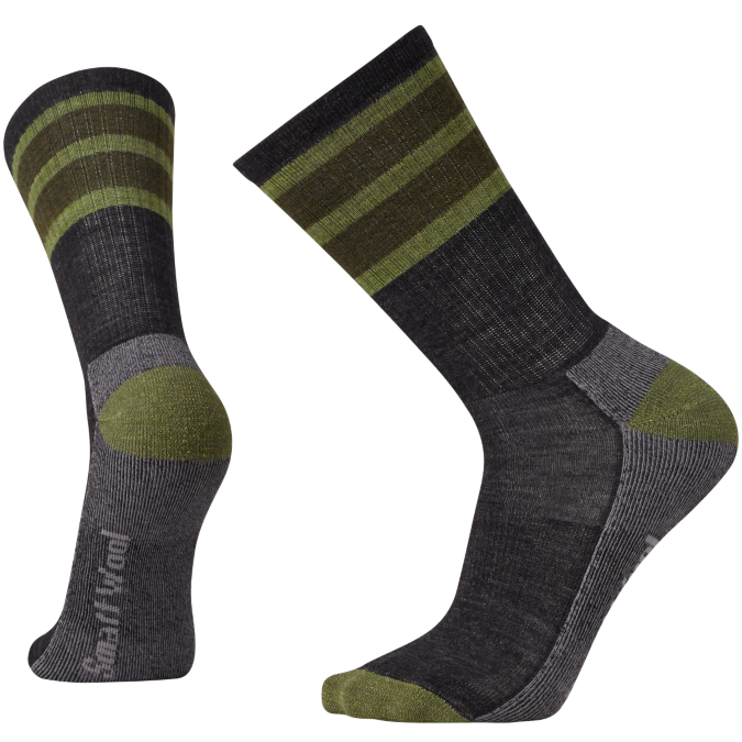 green and gray socks