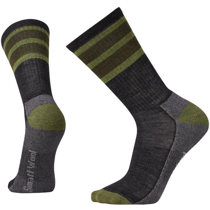 green and gray socks