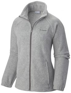 light gray fleece