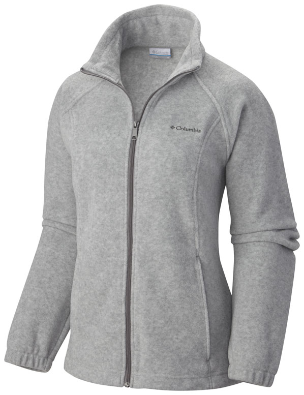 light gray fleece