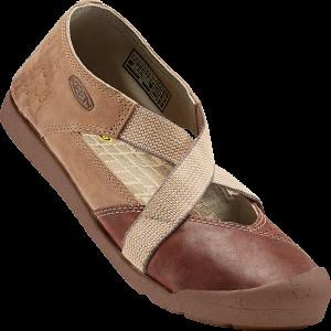 brown and tan sandal