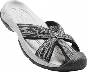 black and gray sandal