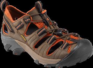brown and orange shoe