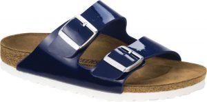 blue patent sandal