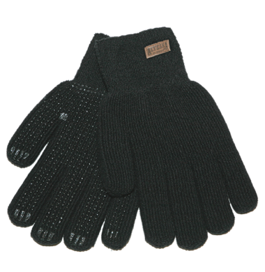 BLACK GLOVES WITH DOTS