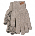 GRAY GLOVE WITH DOTS