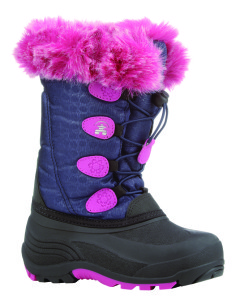 Pink and purple boot