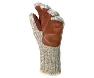 raggw wool glove with leather palm