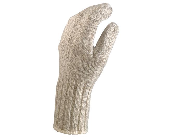 ragg wool mitten