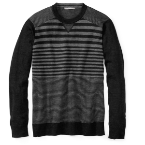 black and gray stripe crew