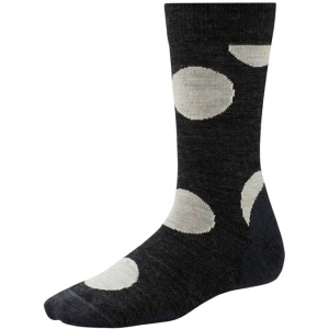 charcoal polka dot sock