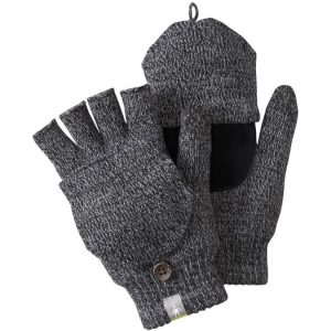 black and gray mittens
