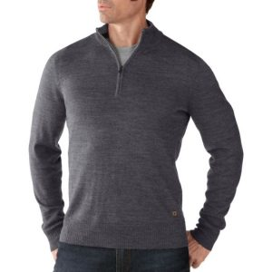 Gray quarter-zip