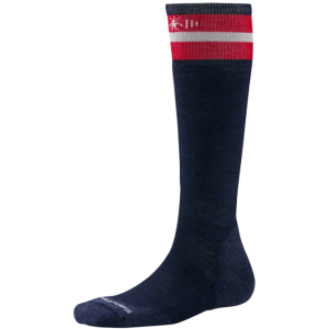 navy and red sock
