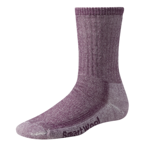 purple hiking sock