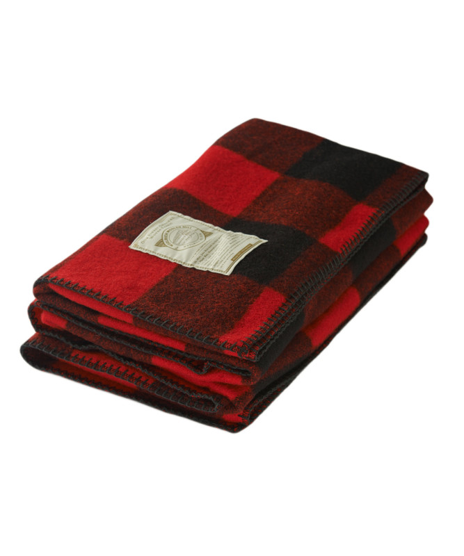 red and black plaid blanket