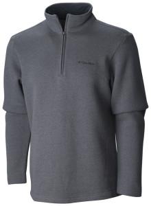 grey 1/4 zip