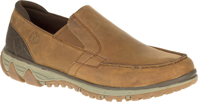 tan slip-on shoe