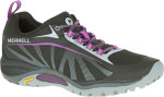 black and purple shoe