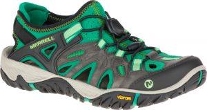 bright green sandal