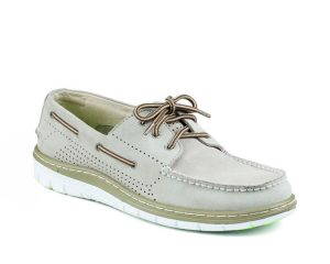 white boat shoe