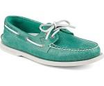 turquoise boat shoe