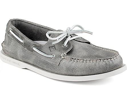 grey boat shoe