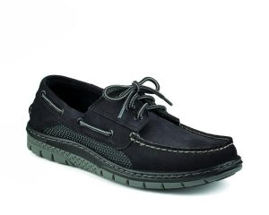 black boat shoe