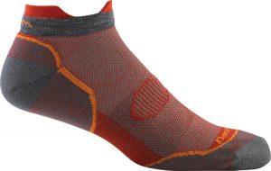 grey and orange socks