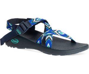 blue and black sandal