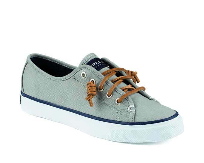 grey boat shoe