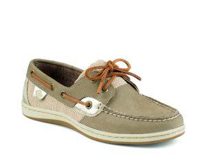tan boat shoe