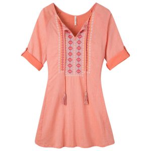 orange tunic shirt