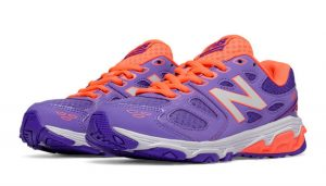 purple and orange shoes