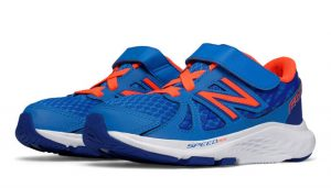 blue and orange shoes