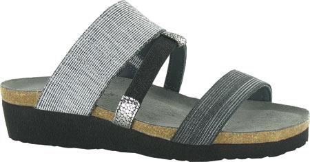 black and gray sandal