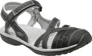 black and grey sandal