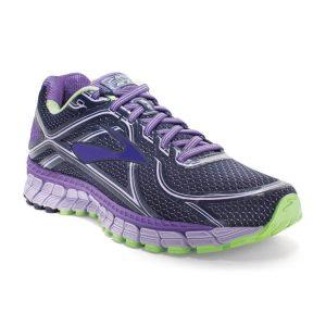 black and purple shoe
