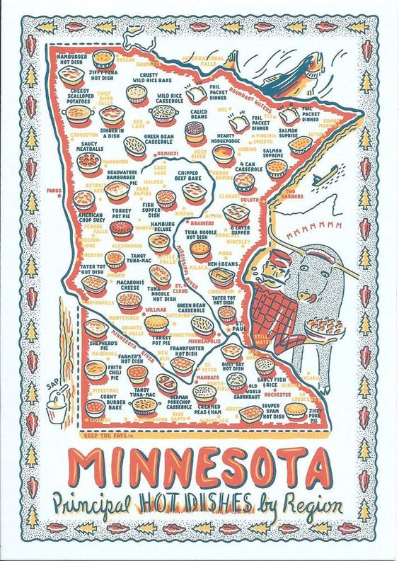 minnesota hotdish towel