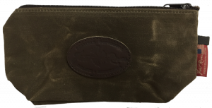 brown accessory bag