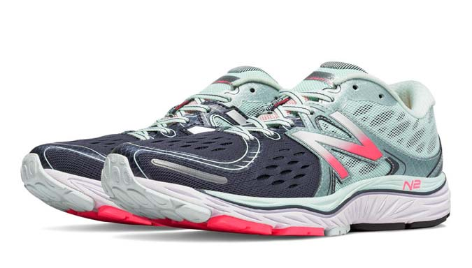 blue running shoe