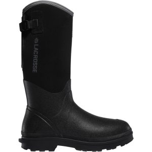 black rubber boot