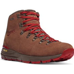 brown and red boot