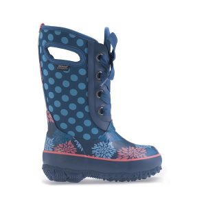 blue polka dot boot