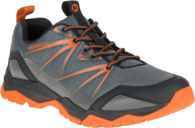 grey and orange shoe