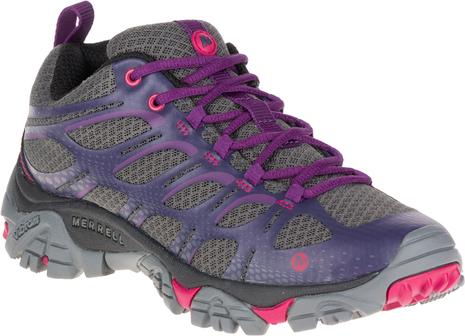 grey and purple shoe
