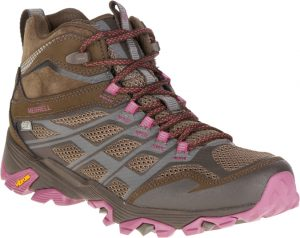 brown and pink boot