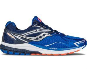 blue and orange shoe