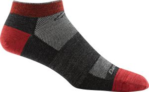 red and black sock