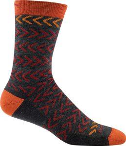 charcoal orange sock